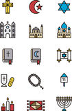 Set of religious icons Royalty Free Stock Image