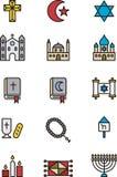 Set of religious icons Royalty Free Stock Image
