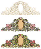 Set of Renaissance borders stock illustration