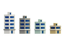 Set of the render buildings, Expansion of the series Stock Photo