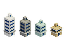 Set of the render buildings, Expansion of the series Royalty Free Stock Photos