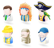 set rengöringsduk för avatarsymbolsfolk Arkivbilder