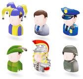 set rengöringsduk för avatarsymbolsfolk Royaltyfri Bild