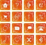 set rengöringsduk för symbol royaltyfri illustrationer