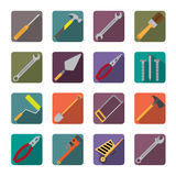 Set of renovation tools icons. Royalty Free Stock Images