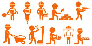 Set repair man with tools for construction Stock Photo