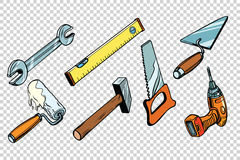 Set repair tools,  background Royalty Free Stock Images