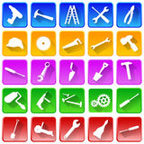 Set of repair and tools icons. Royalty Free Stock Images