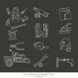 Set of repair tools Royalty Free Stock Image