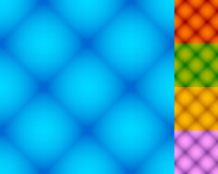Set of repeatable square patterns in 5 distinct colors Royalty Free Stock Photography
