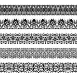 Set of repeating borders Stock Image
