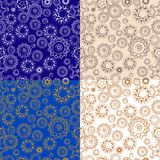 Set of repeating floral patterns Royalty Free Stock Photography
