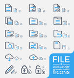 Set of Responsive File and Directory Management Line Icons Design. Royalty Free Stock Images
