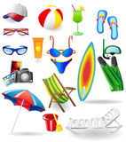 Set for rest on a sun sea and beach Stock Image