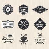 Set restauracja, foods sklep, steakhouse, grilla grill - wektorowa ilustracja Zdjęcie Stock