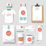 Set of restaurant and coffee shop uniform corporate identity des Royalty Free Stock Images
