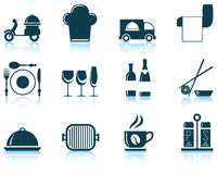 Set of restaurant icon Royalty Free Stock Image