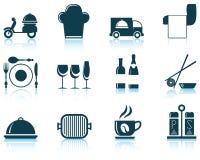 Set of restaurant icon Royalty Free Stock Image