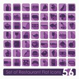 Set of restaurant icons Royalty Free Stock Photography