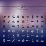 Set of restaurant icons. It is a Set of restaurant icons Stock Image