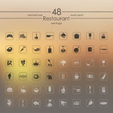 Set of restaurant icons. It is a Set of restaurant icons Stock Photography