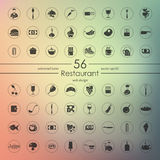 Set of restaurant icons. It is a Set of restaurant icons Royalty Free Stock Photos