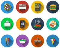 Set of restaurant icons Royalty Free Stock Photos