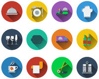 Set of restaurant icons Royalty Free Stock Photos