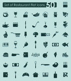 Set of restaurant icons Royalty Free Stock Images