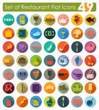 Set of restaurant icons Stock Image