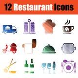 Restaurant icon set Stock Images