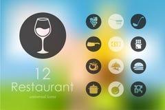 Set of restaurant icons Stock Photos