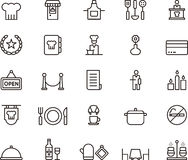 Set of Restaurant Icons or Symbols Royalty Free Stock Photography