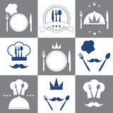 Set of restaurant icons Royalty Free Stock Image