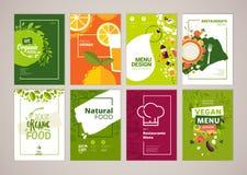 Set of restaurant menu, brochure, flyer design templates in A4 size Stock Image