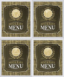 Set of restaurant menu cover design in vintage style Royalty Free Stock Photo