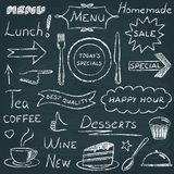 Set of restaurant menu design elements Stock Images