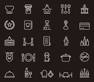Set of restaurant related icons Royalty Free Stock Image
