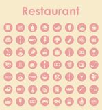 Set of restaurant simple icons Royalty Free Stock Images