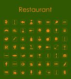 Set of restaurant simple icons Royalty Free Stock Photos