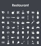 Set of restaurant simple icons Royalty Free Stock Photo