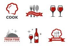 Set restaurant symbols Royalty Free Stock Photo