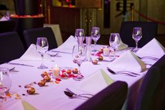Set restaurant table for special occation Stock Image