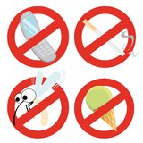 Set of restrictive signs Stock Photos