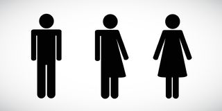 Set of restroom icons including gender neutral icon pictogram royalty free illustration