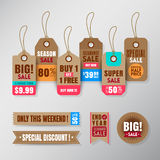Set of retail sale tags design elements. Set of retail sale tags graphic design elements Royalty Free Stock Image