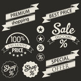 Set of retail stickers and ribbons Royalty Free Stock Photo