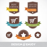 Set of retail stickers and ribbons Stock Photos