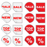 Set of Retail Tags Royalty Free Stock Photography
