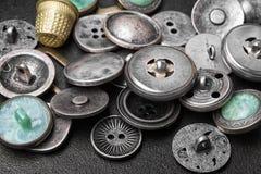 Set retro żelazni guziki obrazy stock